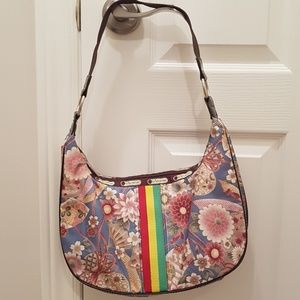 LeSportac shoulder flower handbag